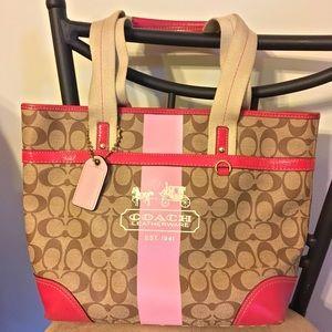 Coach Heritage Stripe Collection Handbag